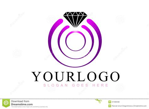 diamond rings logo stock illustration image  diamonds