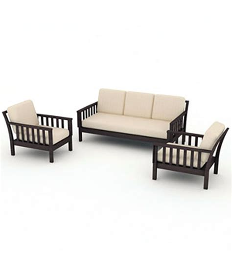 Cushion Sofa Set Price by Patolli Solid Wood Sofa Set With Cushion And Covers 3 1 1