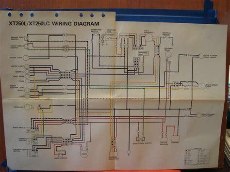Wiring Diagram Yamaha At 1 by Nos Yamaha Factory Wiring Diagram 1984 Xt250 L Xt250 Lc Ebay