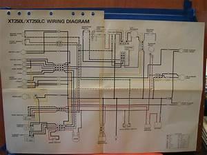 Nos Yamaha Factory Wiring Diagram 1984 Xt250 L Xt250 Lc