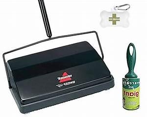 Manual Carpet Sweeper Push Vacuum Non Electric Broom