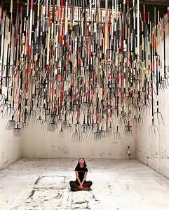 The, Crusher, A, Pitchfork, Installation, By, Artist, Simon, Birch