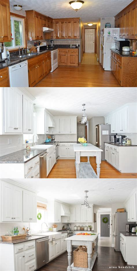 How Is It To Paint Kitchen Cabinets by How To Paint Oak Cabinets And Hide The Grain Step By