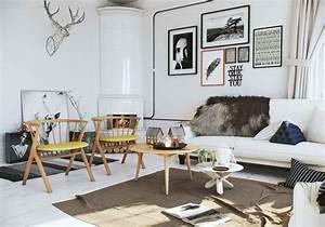 Ensemble Salon Scandinave : int rieur maison 3 exemples de d coration en blanc ~ Teatrodelosmanantiales.com Idées de Décoration