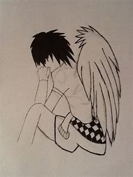 Best 25 ideas about emo drawings find what youll love emo fallen angel drawings altavistaventures Gallery