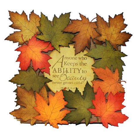 falling leaves clear stamps products hobby art
