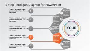 5 Steps Top-down Diagram Ppt