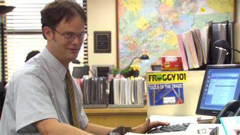 Dwight Standing Desk Episode by Froggy 101 Bumper Sticker Filmgarb