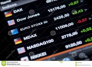List Of Stock Market Indices Editorial Image