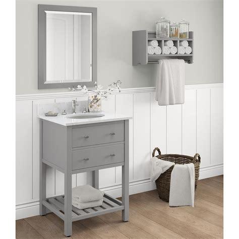 2933 gray bathroom mirror alaterre furniture harrison 25 in w x 22 in d vanity in