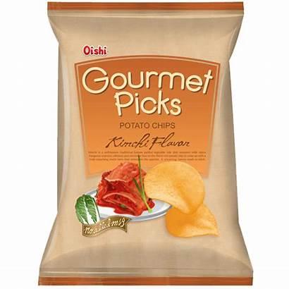 Oishi Kimchi Chips Potato Gourmet Picks Crisps
