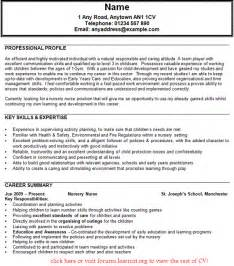 personal profile for nursing resume nursing cv template uk http webdesign14