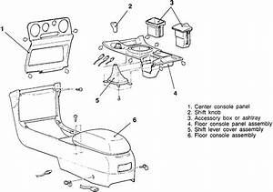 Service Manual  1995 Chrysler Sebring Center Console Removal