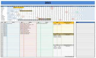 Templates Excel 2016 Calendars Excel Templates