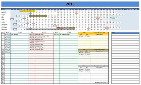 Event Calendar Template Excel Costumepartyrun