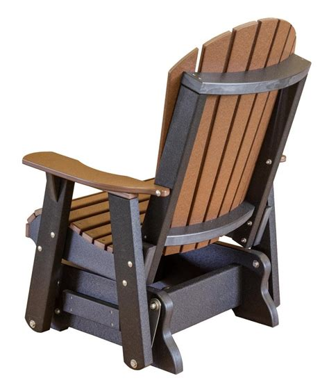 heritage single outdoor glider  rocking chair company