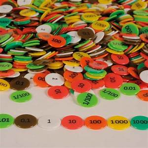 Buy Coloured Plastic Place Value Counters TTS