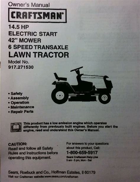 Sears Garden Tractor Parts by Sears Craftsman 14 5 Hp Lawn Tractor 42 Quot Mower