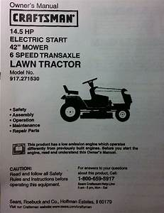Sears Craftsman 14 5 Hp Lawn Riding Tractor  U0026 42 U0026quot  Mower