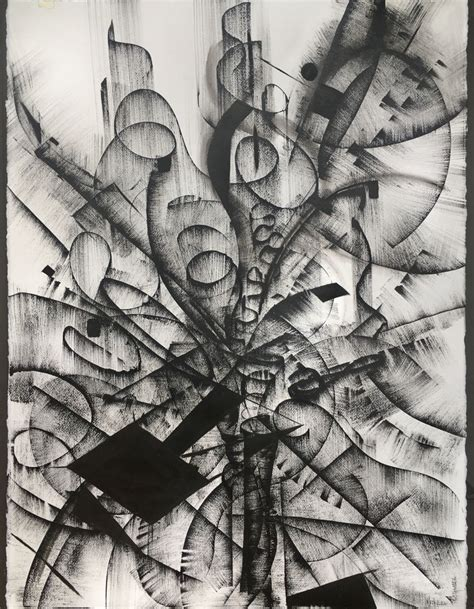Abstract Black And White by Black And White Abstract Drawing 4 Drawing By Khrystyna