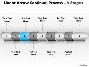 Business Powerpoint Templates Linear Arrow Continual