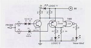 Logic Probe Tester Circuit