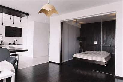 Couple Young Designed Apartment Colors Studio Interior