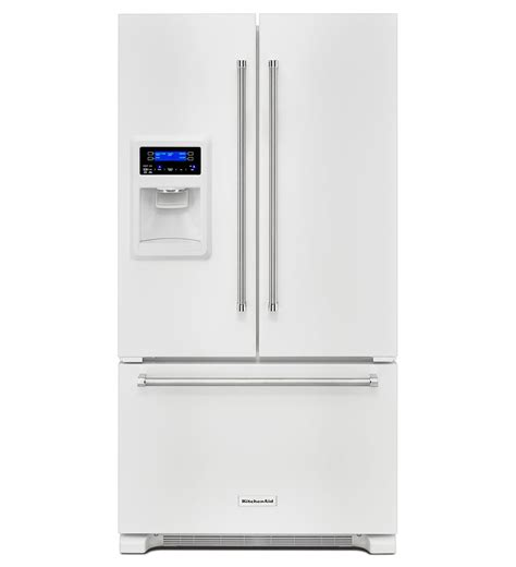 kitchenaid 174 20 cu ft 36 inch width counter depth door refrigerator with exterior and