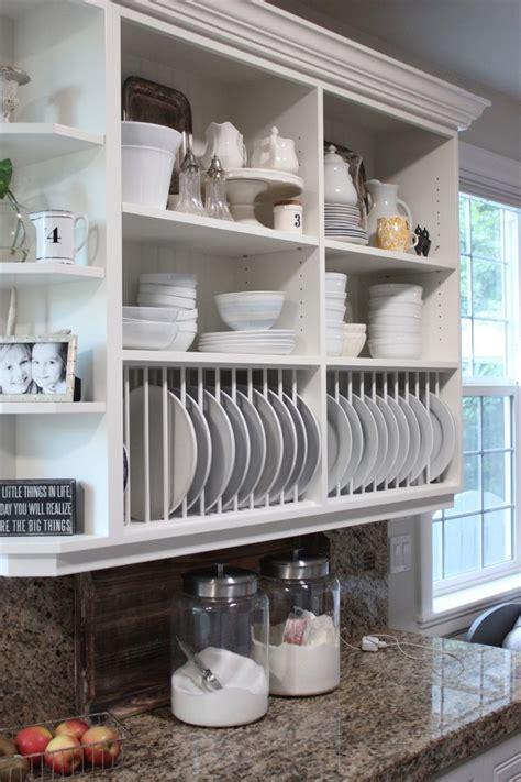 kitchen cabinet built  plate rack  homeaccessgrantcom