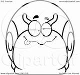 Dumb Drunk Snail Coloring Clipart Cartoon Outlined Vector Thoman Cory Pages Template sketch template