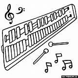 Glockenspiel Coloring sketch template