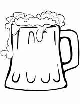 Beer Mug Coloring Pages Drinks Categories sketch template