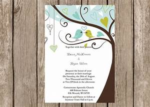6 best images of wedding love bird template printable With wedding invitations with trees and birds