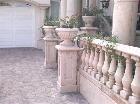 concrete balustrade gardens planters
