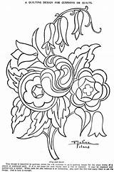 Coloring Quilt Crazy Block Template Embroidery Quilting sketch template