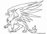 Griffin Coloring Pages Gryphon Sketch Printable Adults sketch template