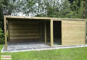 Abri De Bois : abri de jardin bois baie vitr e auvent exterior ~ Melissatoandfro.com Idées de Décoration