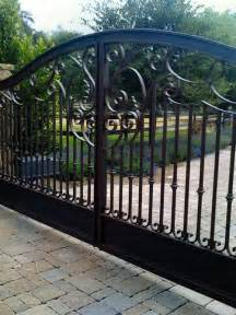 iron driveway gate home design ideas pictures remodel and decor