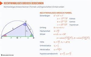 Wie Berechnet Man Die Höhe Eines Dreiecks : rechtwinkliges dreieck berechnen fl cheninhalt seite formel ~ A.2002-acura-tl-radio.info Haus und Dekorationen