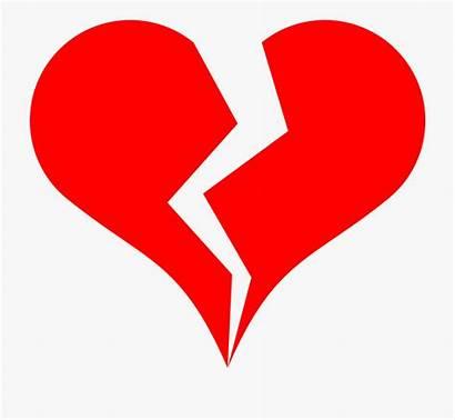 Broken Heart Clipart Clip Hearts Cartoon Transparent