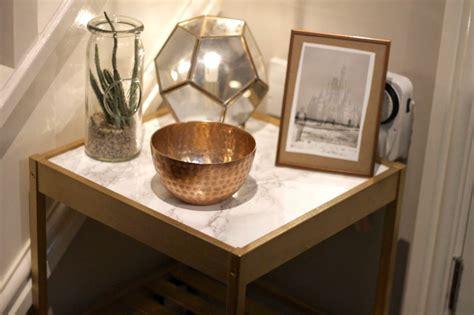 DIY   IKEA Bedside Table Hack   Gold & Marble   Rebel Angel