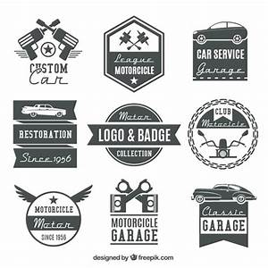 Collection of vintage motorcycle logos and badges Vector ...