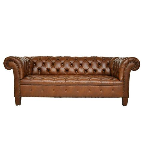 brown leather chesterfield sofa baker