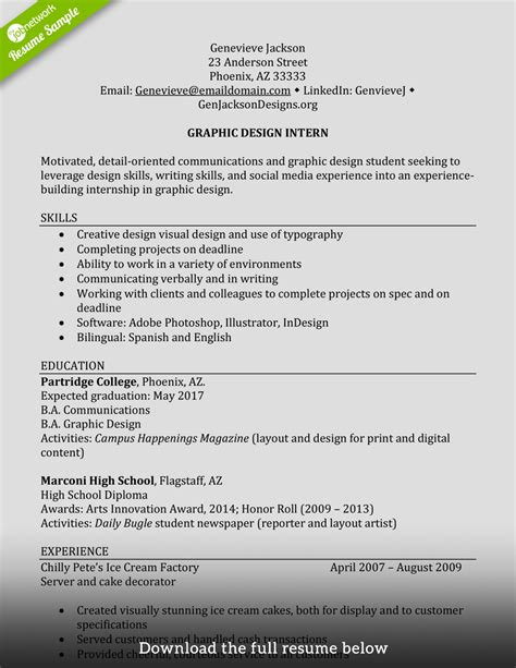 internship work experience resume how to write a internship resume exles included