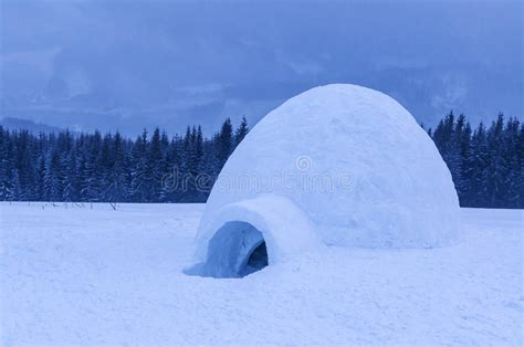 Igloo Snow Winter Real High Mountains Twilight Time
