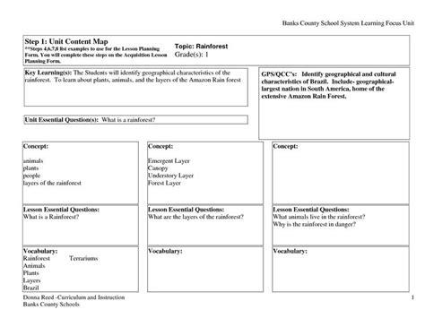 preschool rainforest lesson plans emergent curriculum lesson plan template tech lesson 195