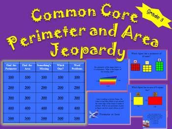 common core area  perimeter tv trivia  grade fun tpt