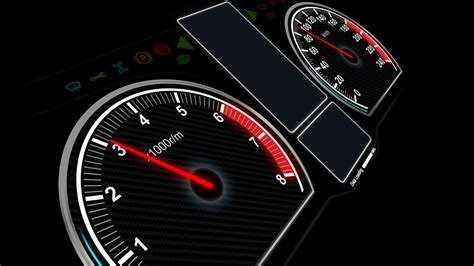 4 K Animation Of Car Dashboard Speed Rpm Meter And