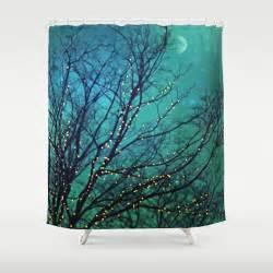 aqua shower curtain magical