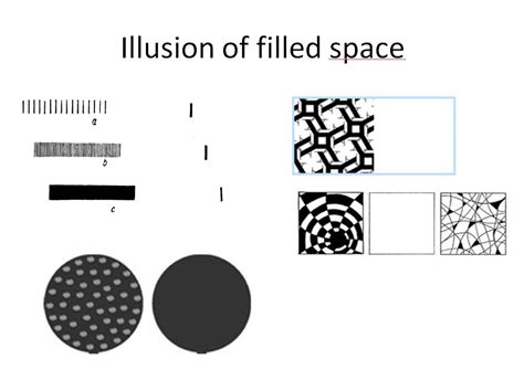 illusion of space optical illusions filled space and irradiation mysteries of style
